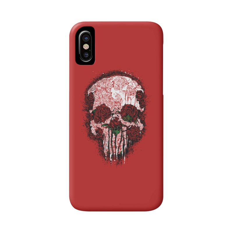 Skull Roses Accessories Phone Case by Ricomambo