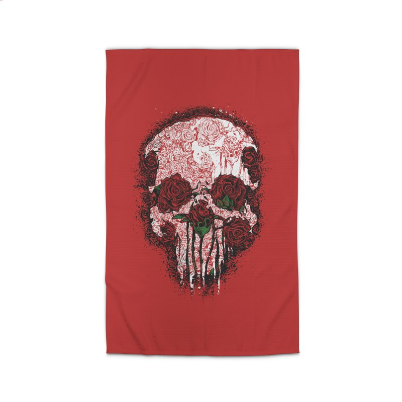 Skull Roses Home Rug by Ricomambo