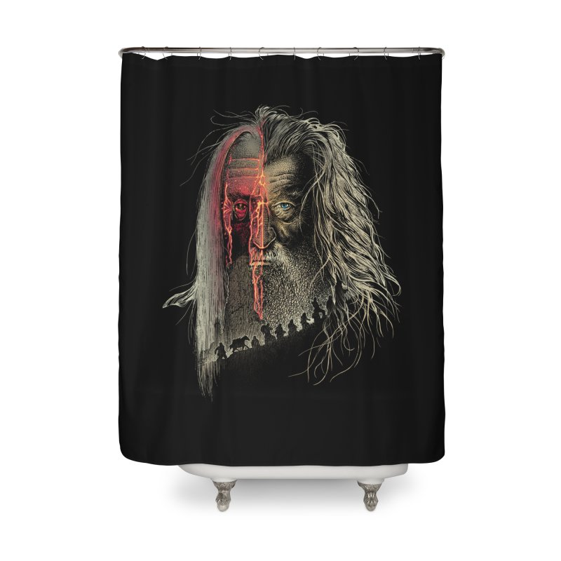 Evil Border Home Shower Curtain by Ricomambo