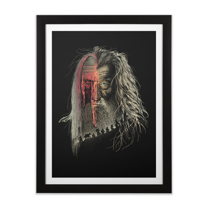 Evil Border Home Framed Fine Art Print by Ricomambo