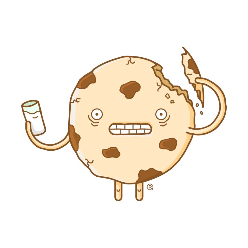 Cannibal Cookie Men's Longsleeve T-Shirt by ricosquesos's Artist Shop