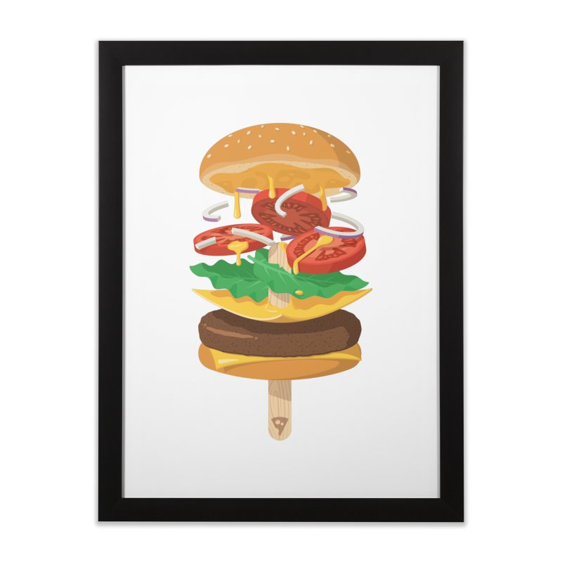 Summerburger Home Framed Fine Art Print by ricosquesos's Artist Shop