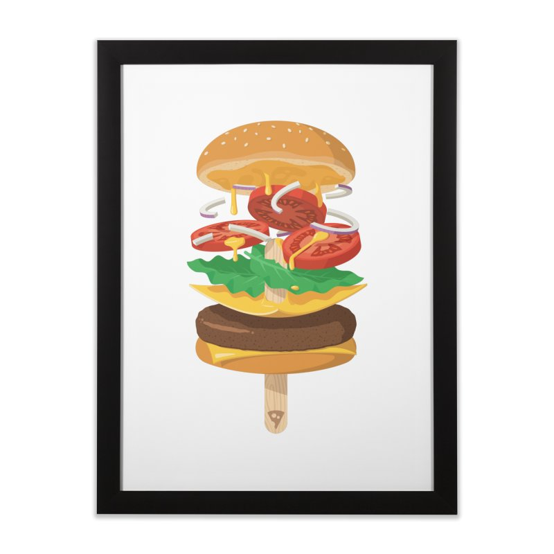 Summerburger Home Framed Fine Art Print by ricosquesos's Artist Shop