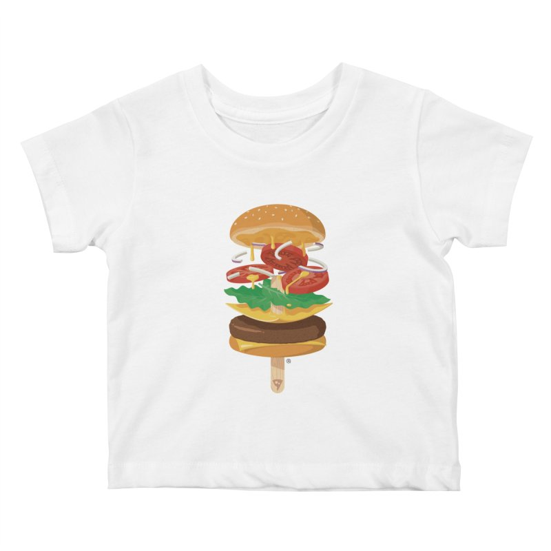 Summerburger Kids Baby T-Shirt by ricosquesos's Artist Shop