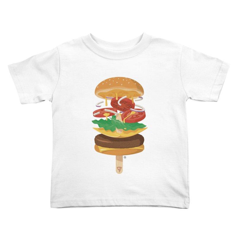 Summerburger Kids Toddler T-Shirt by ricosquesos's Artist Shop