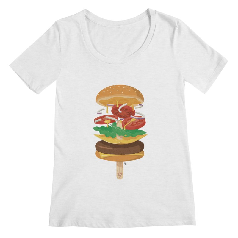 Summerburger Women's Scoopneck by ricosquesos's Artist Shop