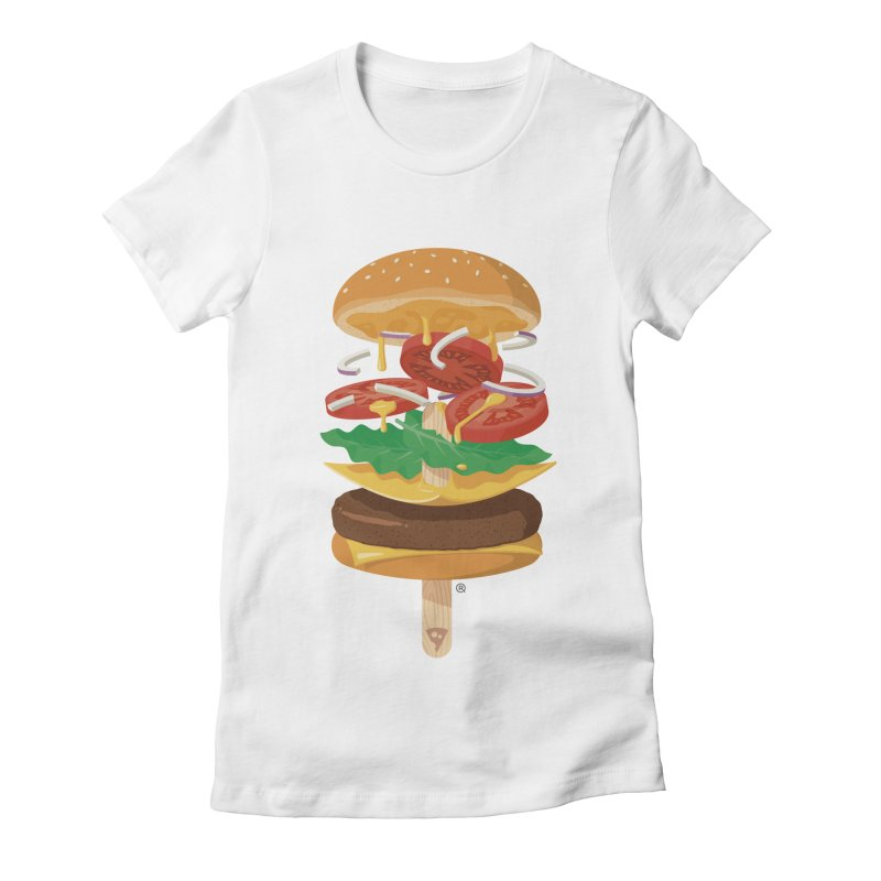 Summerburger Women's Fitted T-Shirt by ricosquesos's Artist Shop