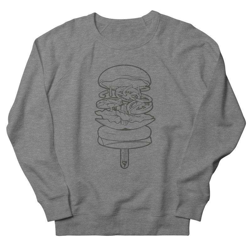 Summerburger Mono Men's French Terry Sweatshirt by ricosquesos's Artist Shop