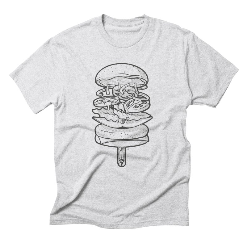 Summerburger Mono in Men's Triblend T-Shirt Heather White by ricosquesos's Artist Shop