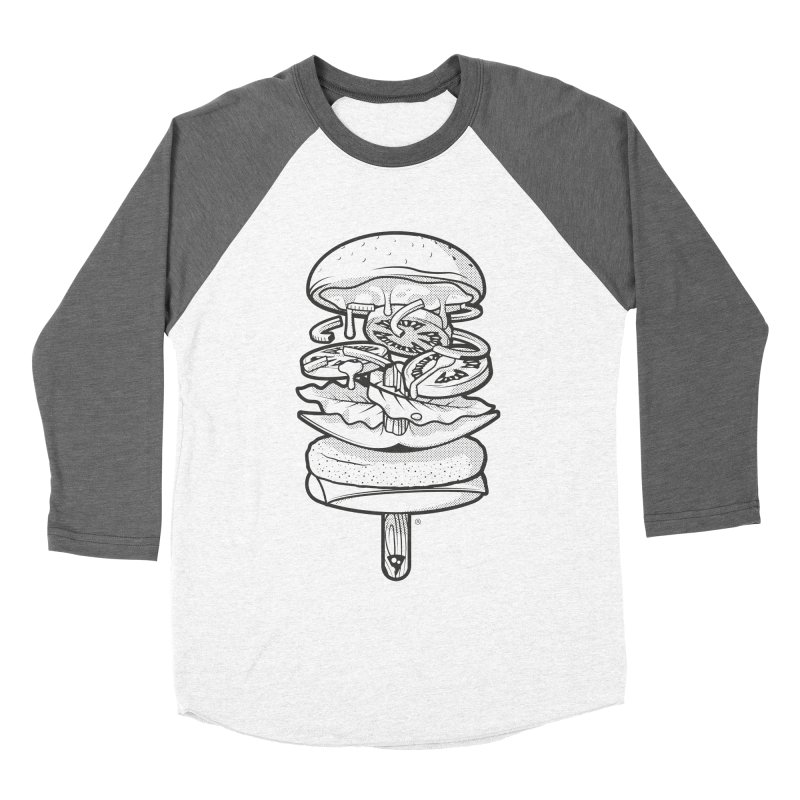 Summerburger Mono Men's Baseball Triblend Longsleeve T-Shirt by ricosquesos's Artist Shop