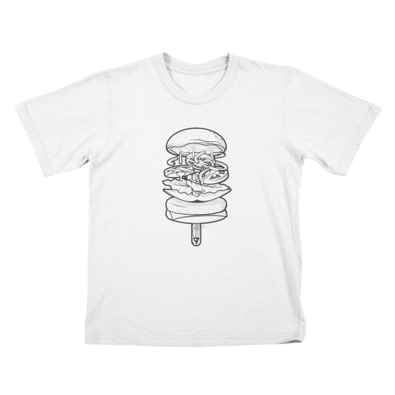 Summerburger Mono Kids T-Shirt by ricosquesos's Artist Shop