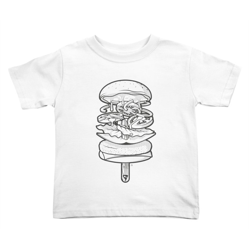 Summerburger Mono Kids Toddler T-Shirt by ricosquesos's Artist Shop
