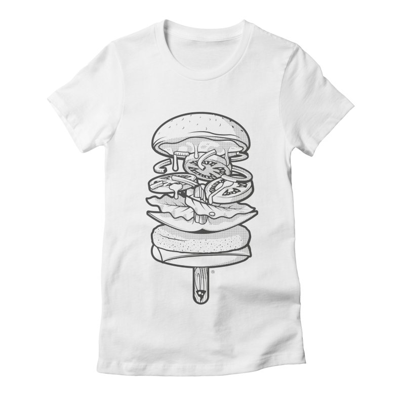 Summerburger Mono Women's T-Shirt by ricosquesos's Artist Shop