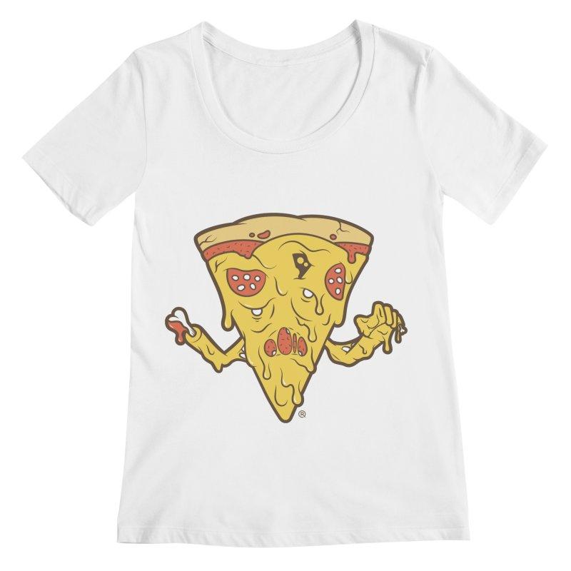 Pizzambie Women's Regular Scoop Neck by ricosquesos's Artist Shop