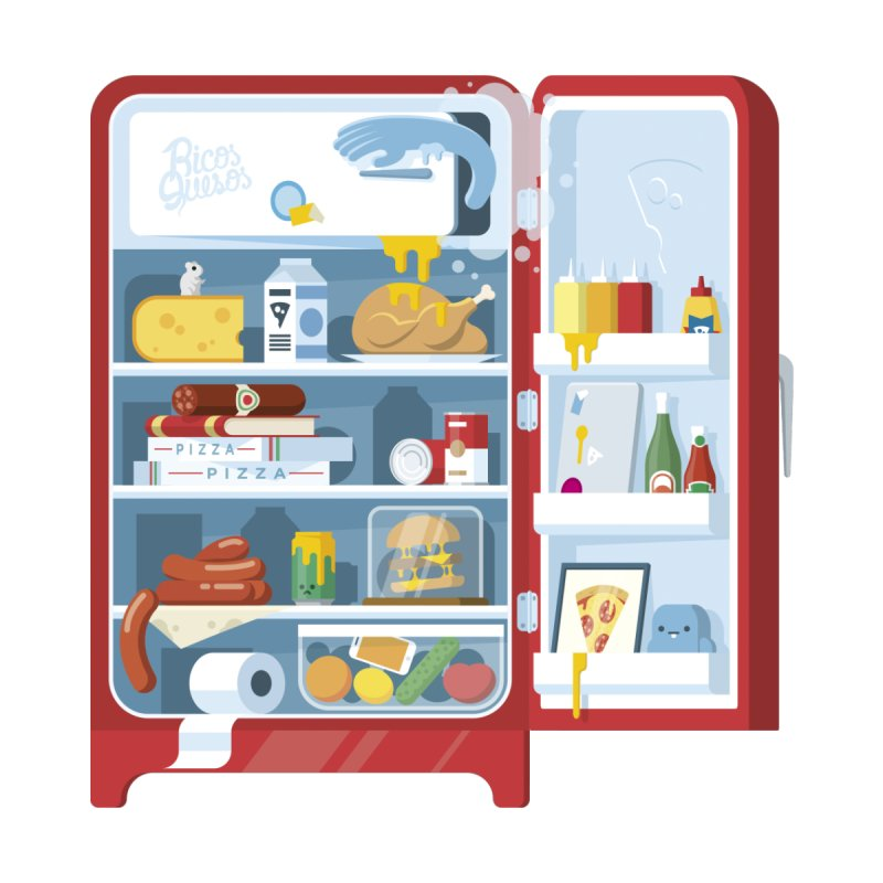 Our Fridge by ricosquesos's Artist Shop