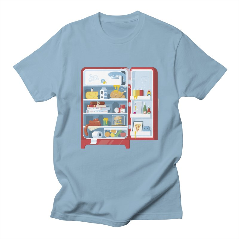 Our Fridge in Men's Regular T-Shirt Light Blue by ricosquesos's Artist Shop