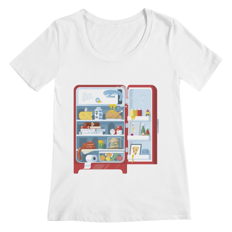 Our Fridge Women's Scoopneck by ricosquesos's Artist Shop