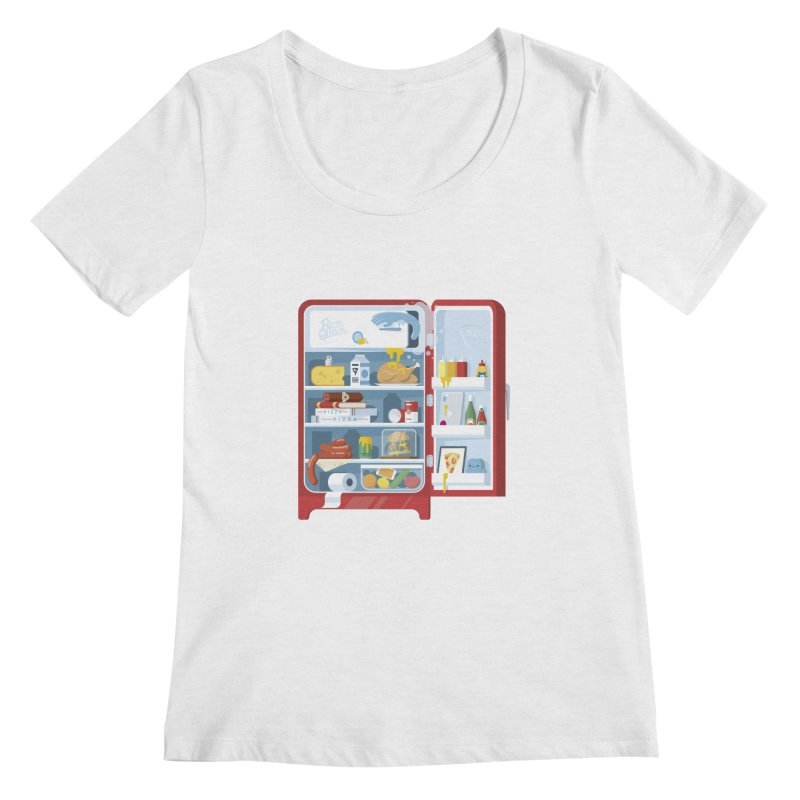 Our Fridge Women's Scoop Neck by ricosquesos's Artist Shop