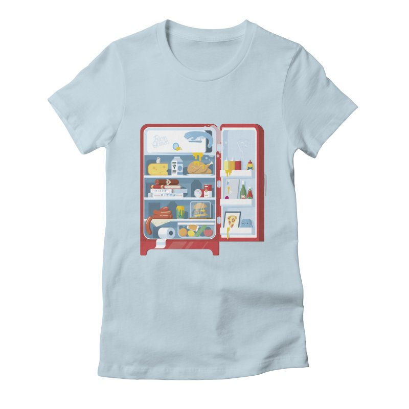 Our Fridge Women's Fitted T-Shirt by ricosquesos's Artist Shop