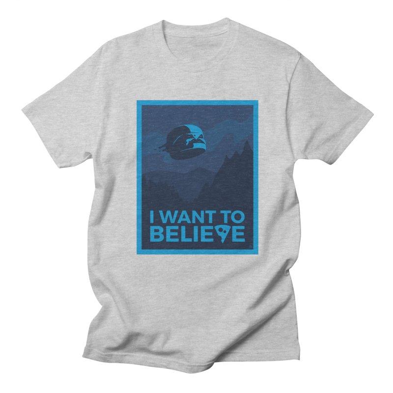 I Want to Believe Men's Regular T-Shirt by ricosquesos's Artist Shop
