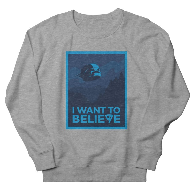 I Want to Believe Men's French Terry Sweatshirt by ricosquesos's Artist Shop