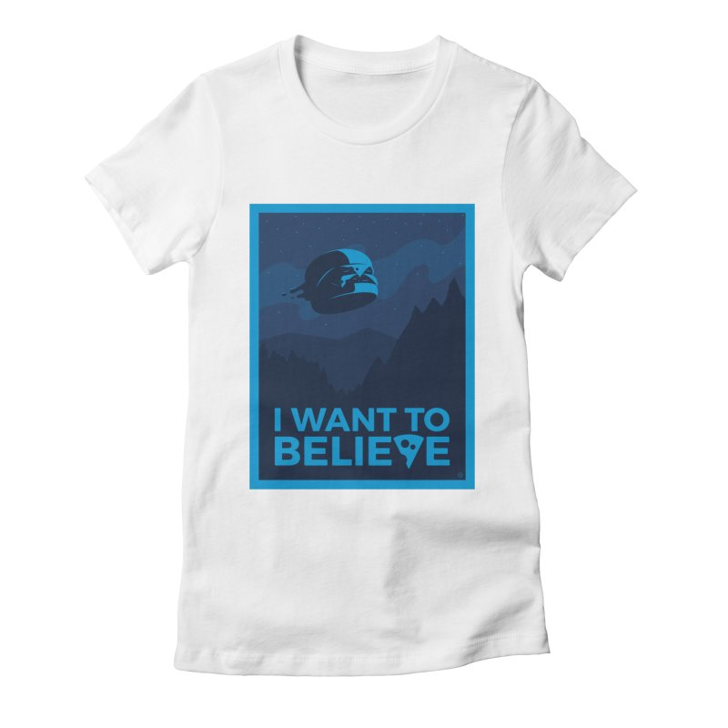 I Want to Believe Women's Fitted T-Shirt by ricosquesos's Artist Shop