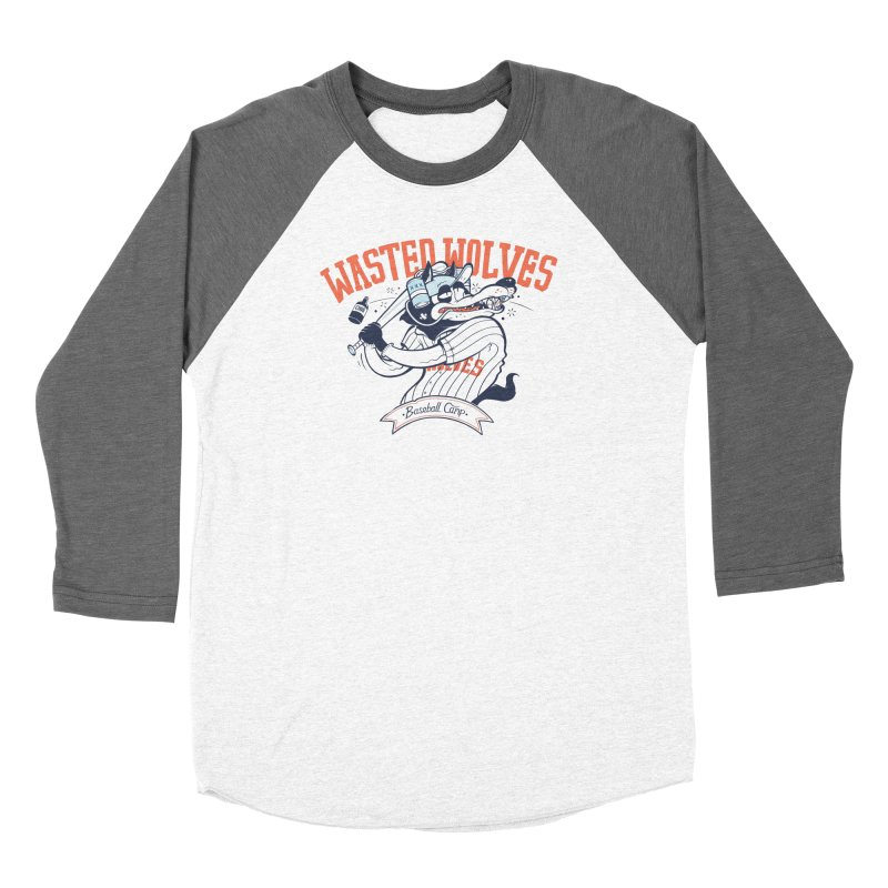 Wasted Wolves Men's Baseball Triblend Longsleeve T-Shirt by riffstore