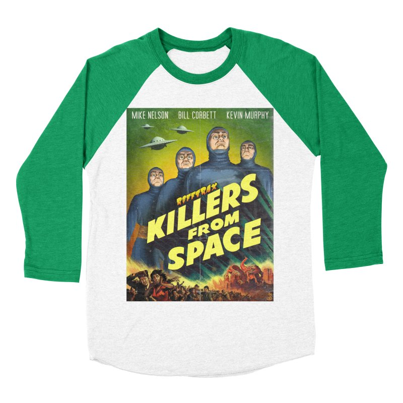 Killers from Space Men's Baseball Triblend Longsleeve T-Shirt by RiffTrax on Threadless!
