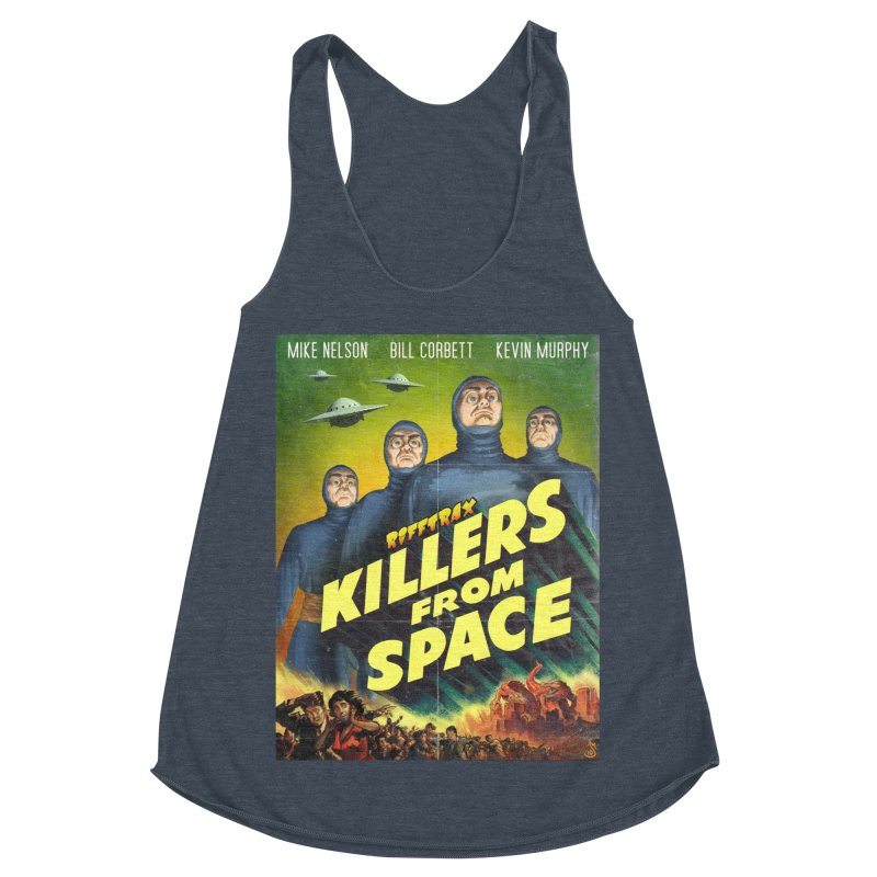 Killers from Space Women's Racerback Triblend Tank by RiffTrax on Threadless!