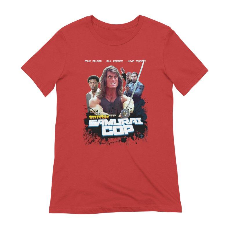 Samurai Cop Women's Extra Soft T-Shirt by RiffTrax on Threadless!