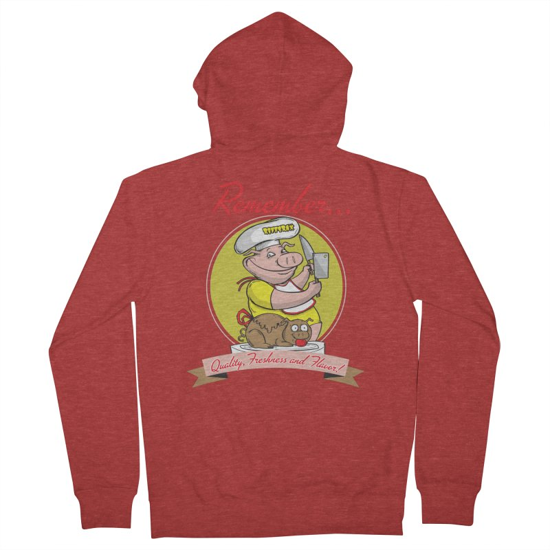 Quality Freshness and Flavor Men's French Terry Zip-Up Hoody by RiffTrax on Threadless!