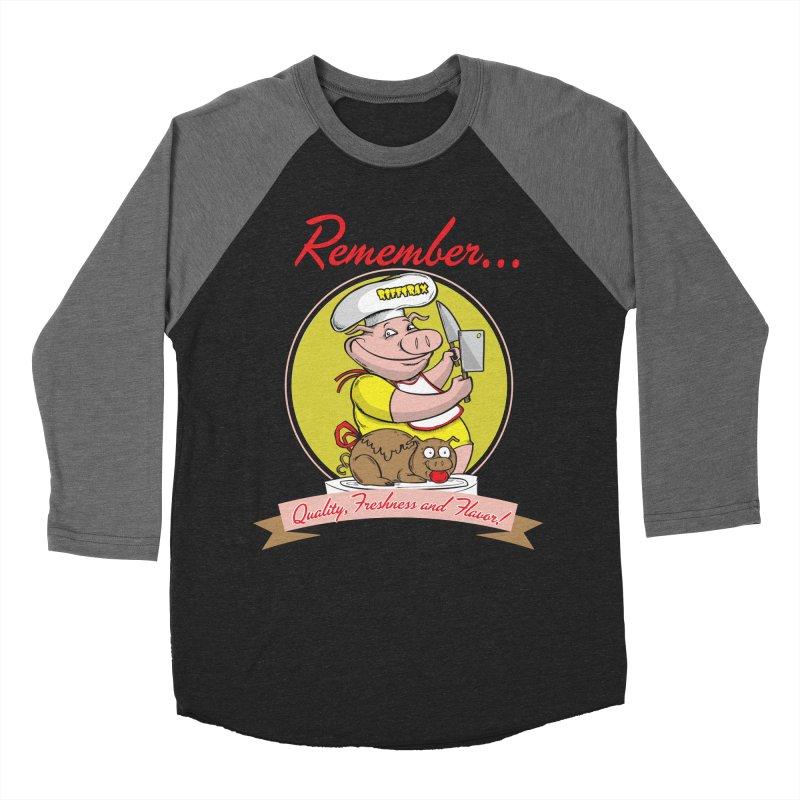 Quality Freshness and Flavor Men's Baseball Triblend Longsleeve T-Shirt by RiffTrax on Threadless!