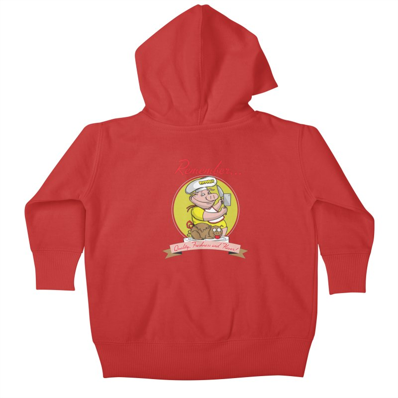 Quality Freshness and Flavor Kids Baby Zip-Up Hoody by RiffTrax on Threadless!