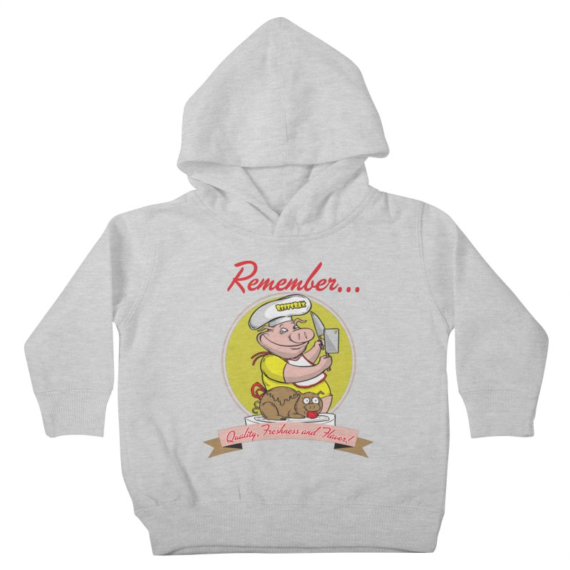 Quality Freshness and Flavor Kids Toddler Pullover Hoody by RiffTrax on Threadless!