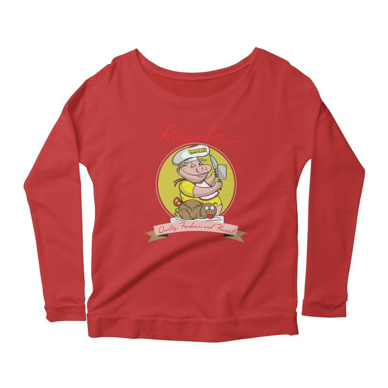 Quality Freshness and Flavor Women's Scoop Neck Longsleeve T-Shirt by RiffTrax on Threadless!