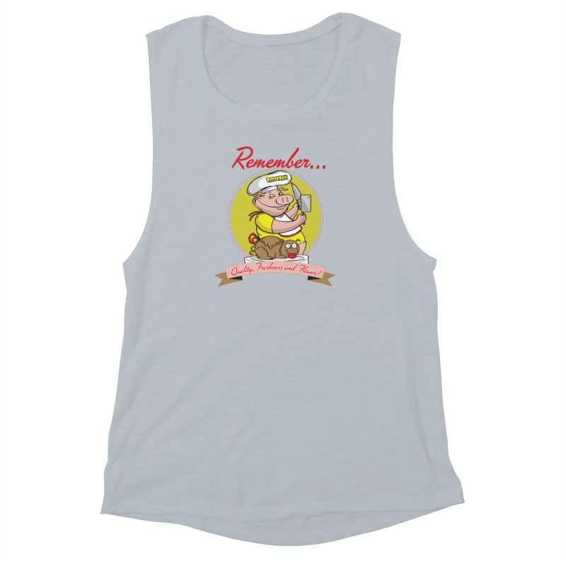 Quality Freshness and Flavor Women's Muscle Tank by RiffTrax on Threadless!