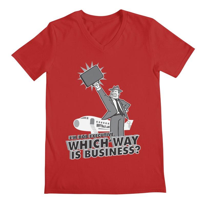 Bob Executive Men's V-Neck by RiffTrax on Threadless!