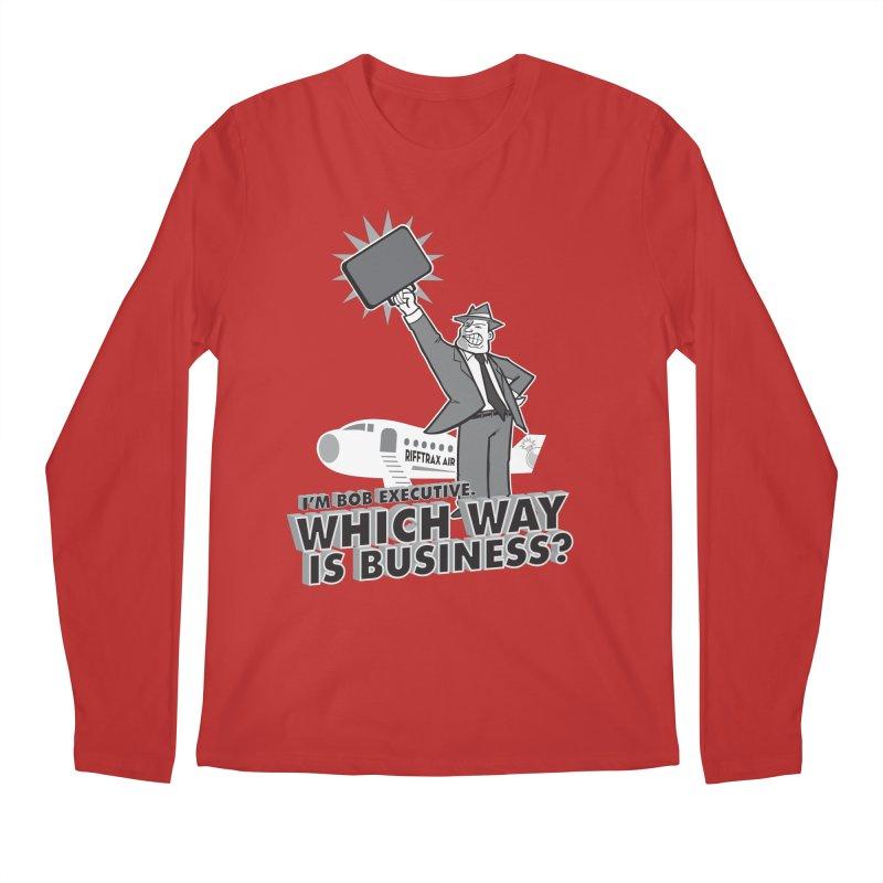 Bob Executive Men's Regular Longsleeve T-Shirt by RiffTrax on Threadless!