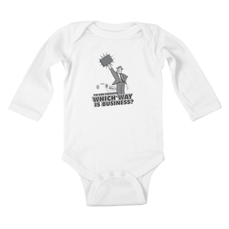 Bob Executive Kids Baby Longsleeve Bodysuit by RiffTrax on Threadless!