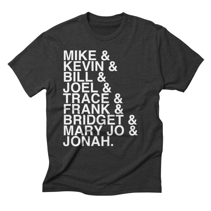 RiffTrax MST3K Reunion Roll Call (white) Men's Triblend T-Shirt by RiffTrax on Threadless!