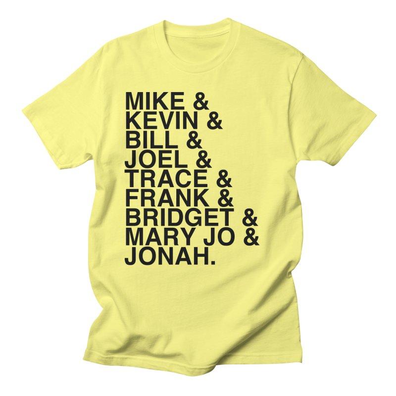 Reunion Roll Call (black) Men's T-shirt by RiffTrax on Threadless!