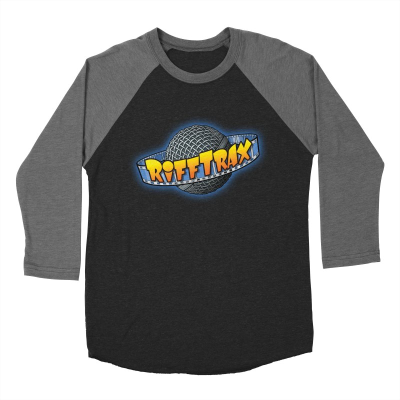 RiffPlanet RIFFTRAX LOGO Men's Baseball Triblend Longsleeve T-Shirt by RiffTrax on Threadless!