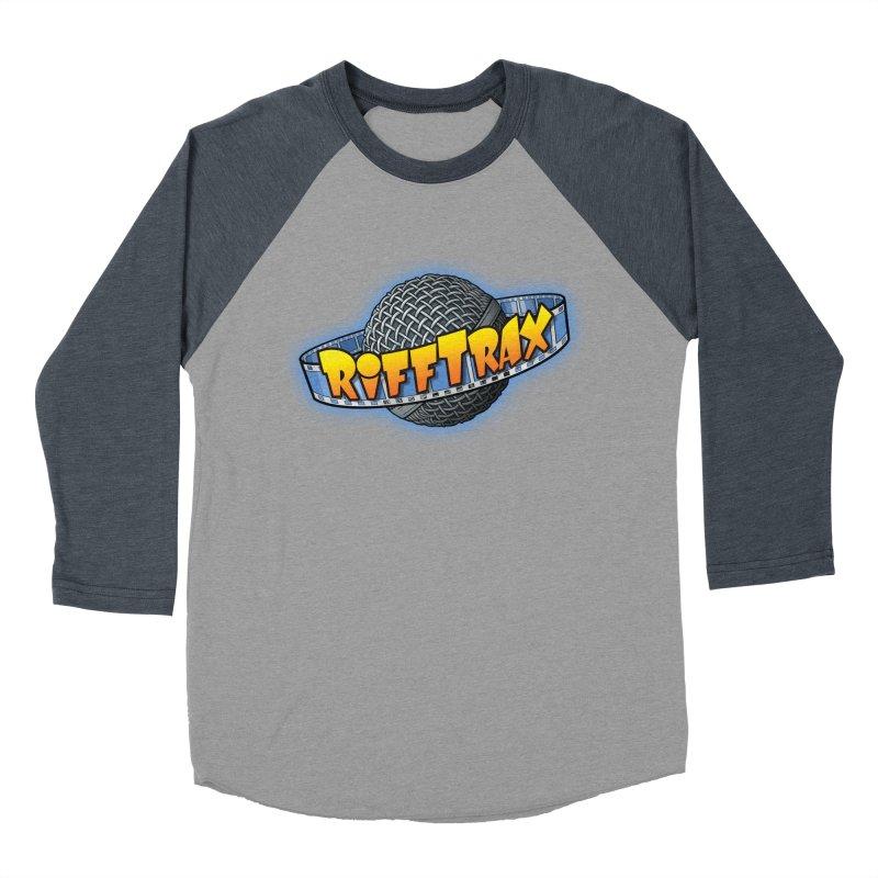 RiffPlanet RIFFTRAX LOGO Men's Baseball Triblend Longsleeve T-Shirt by RiffTrax on Threadless!