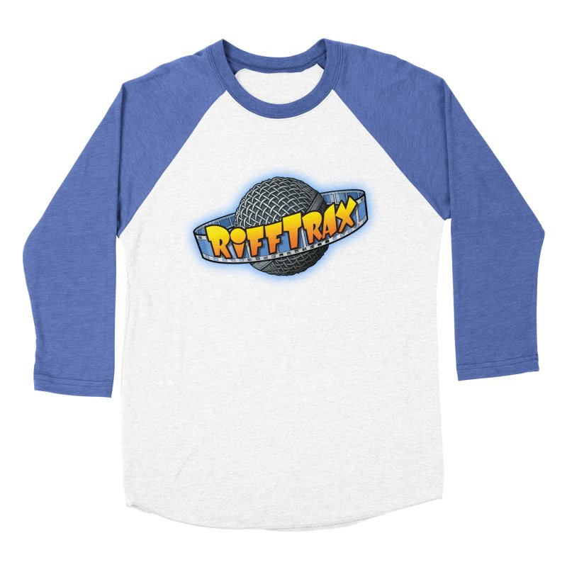 RiffPlanet RIFFTRAX LOGO Men's Baseball Triblend T-Shirt by RiffTrax on Threadless!