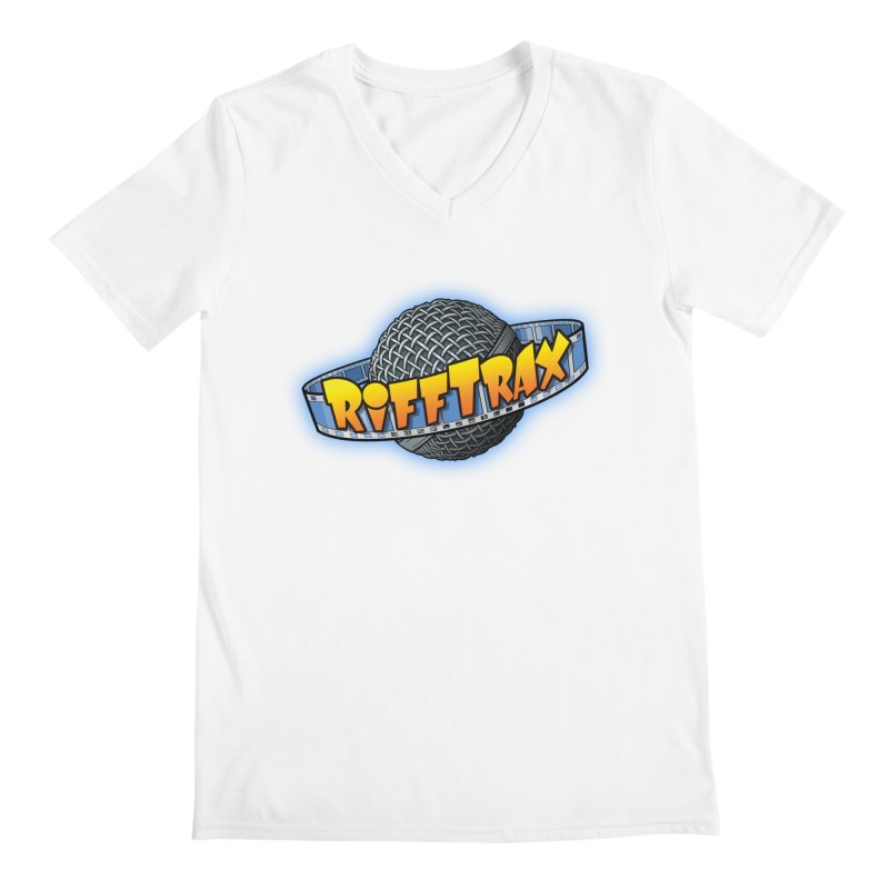 RiffPlanet RIFFTRAX LOGO Men's Regular V-Neck by RiffTrax on Threadless!