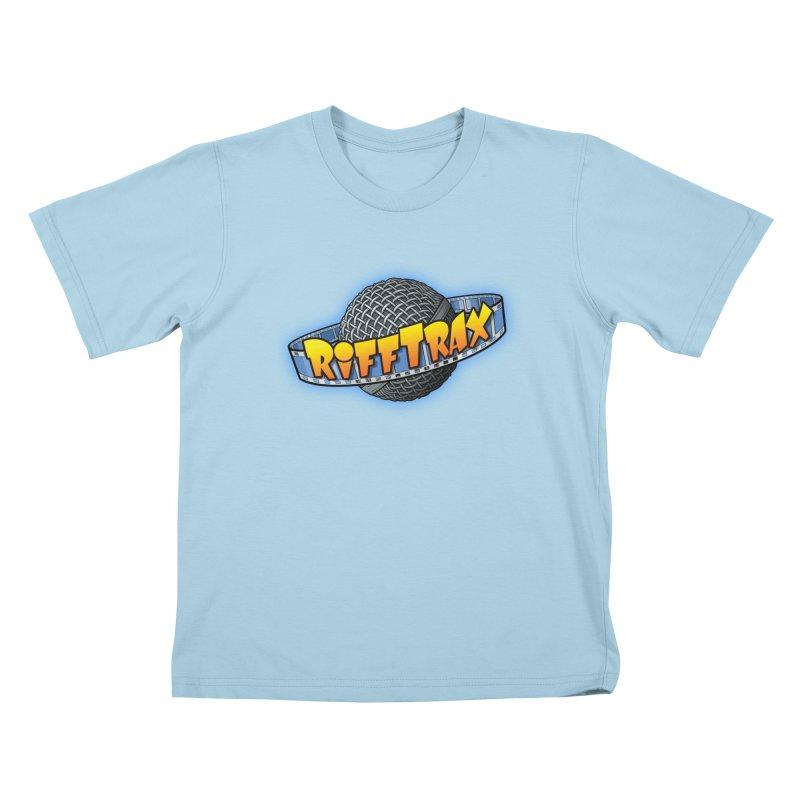 RiffPlanet RIFFTRAX LOGO Kids T-Shirt by RiffTrax on Threadless!