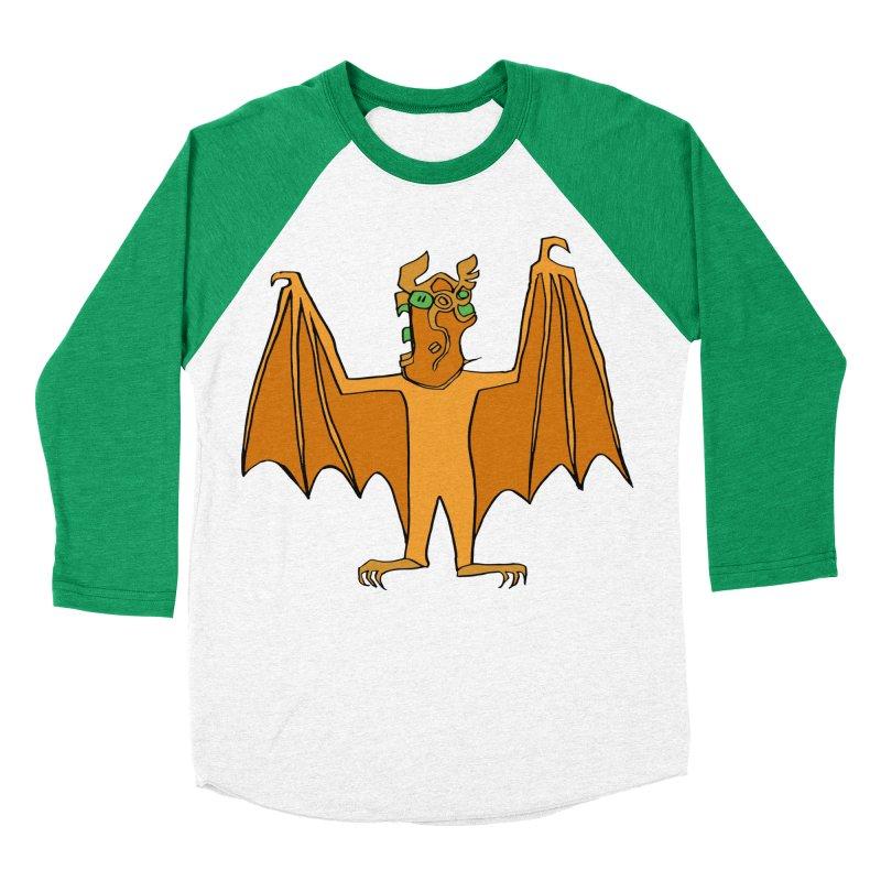 Demon Bat Women's Baseball Triblend Longsleeve T-Shirt by RiffTrax on Threadless!