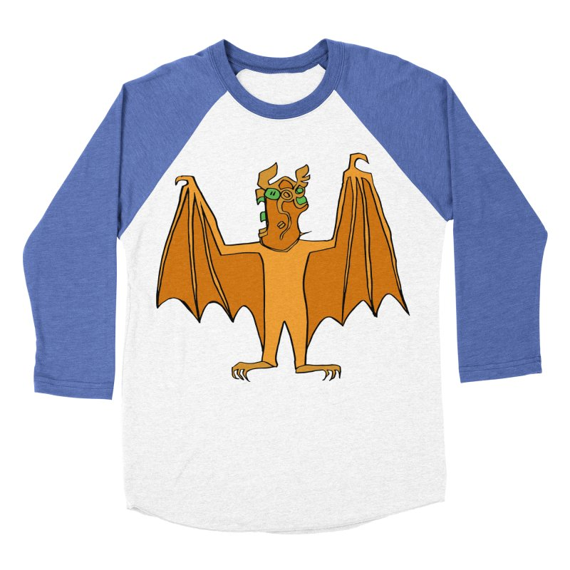 Demon Bat Men's Baseball Triblend Longsleeve T-Shirt by RiffTrax on Threadless!