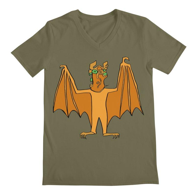 Demon Bat Men's Regular V-Neck by RiffTrax on Threadless!