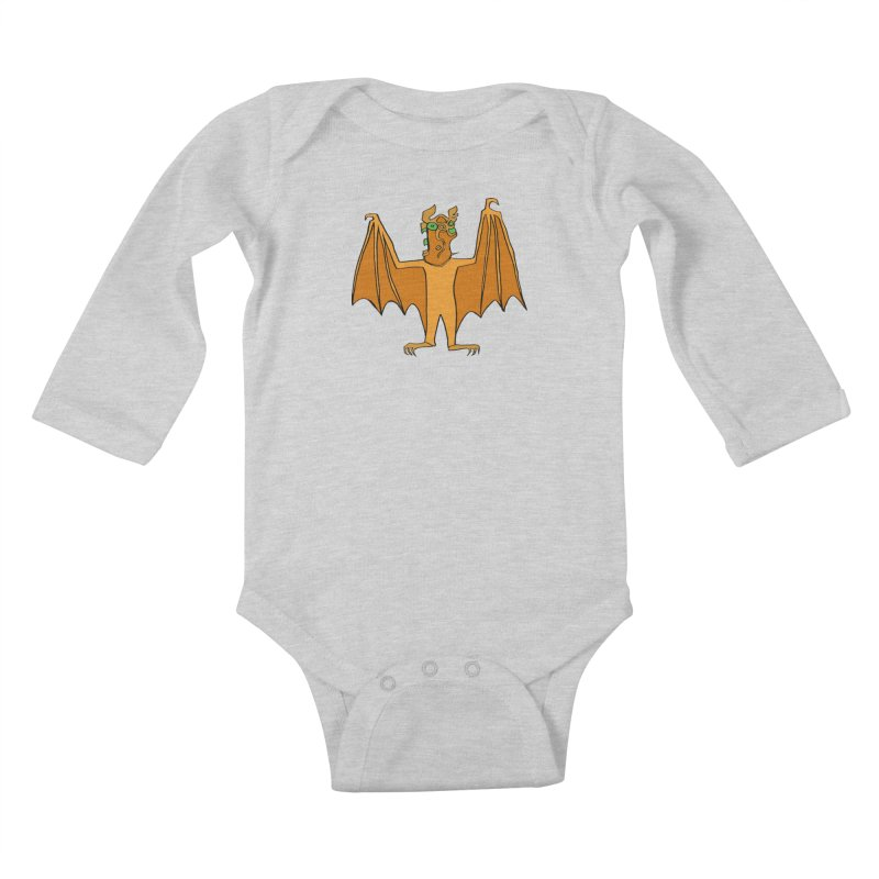 Demon Bat Kids Baby Longsleeve Bodysuit by RiffTrax on Threadless!